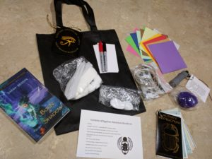 Egyptian Adventure Kit - includes a paperback copy of Born of Shadow as well as supplies for all the fun hands-on activities.